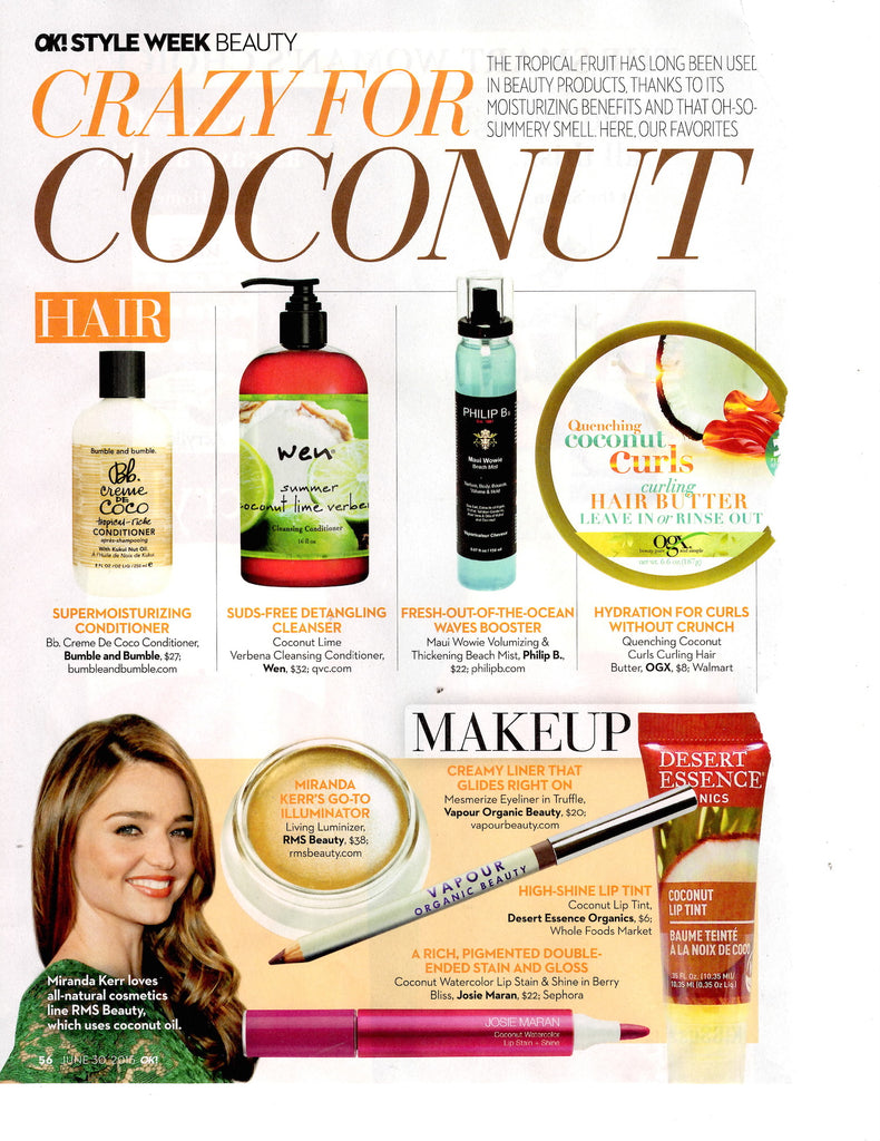 june 2015 ok! magazine featuring miranda kerr and rms beauty living luminizer