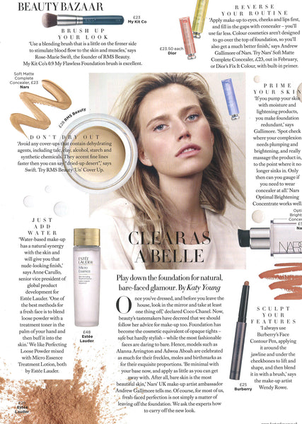 January 2017 Harpers Bazaar featuring RMS Beauty