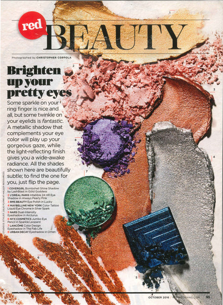 October 2016 Redbook Magazine featuring RMS Beauty