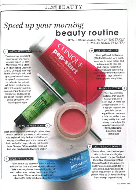October 2016 Glamour UK featuring RMS Beauty Lip2Cheek Demure