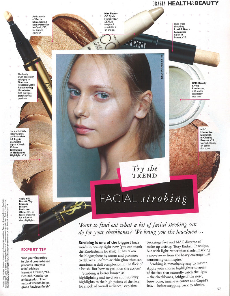august 2015 grazia magazine featuring rms beauty living luminizer