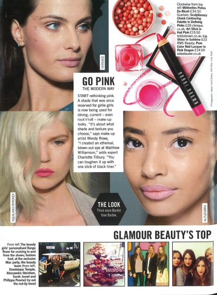 april 2015 glamour magazine featuring rms beauty lip shine in sublime