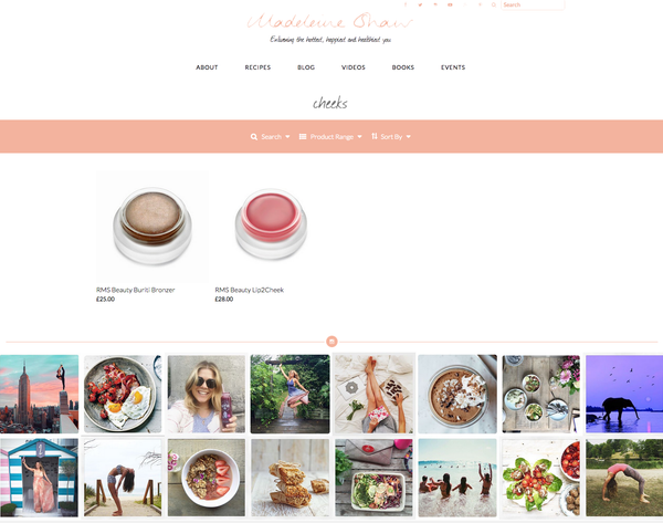 august 2015 madeleine shaw blog featuring rms beauty buriti bronzer and lip2cheek