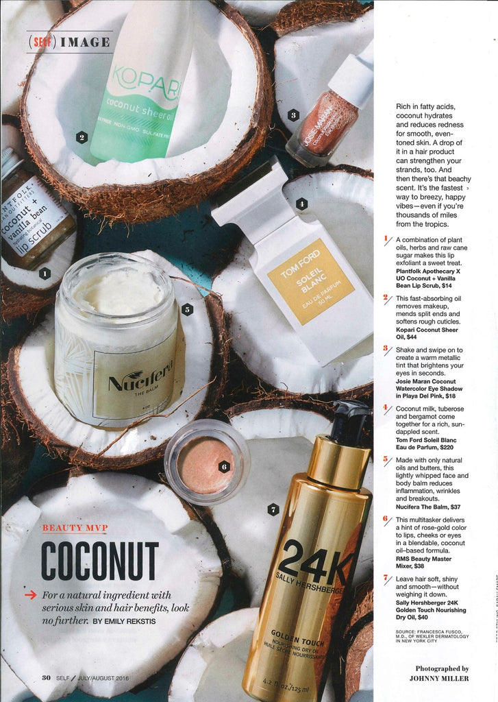 July 2016 SELF Magazine featuring RMS Beauty Master Mixer