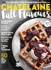 September 2016 Chatelaine Magazine featuring RMS Beauty