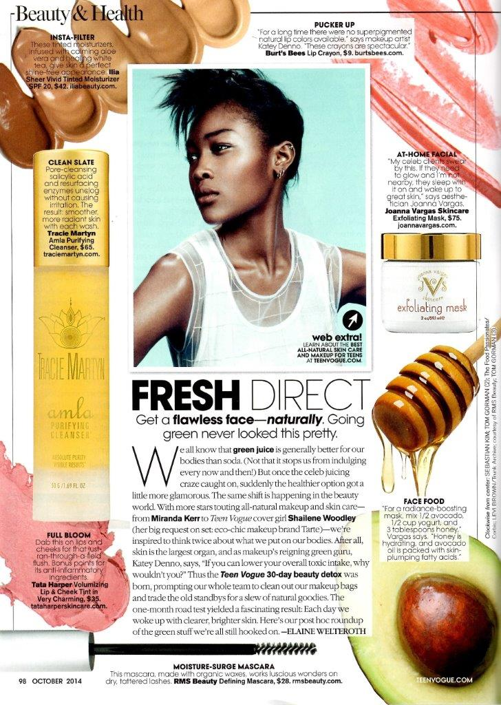 october 2014 teen vogue featuring rms beauty mascara