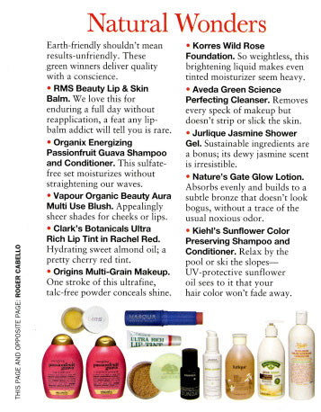 october 2010 allure magazine featuring rms beauty lip & skin balm