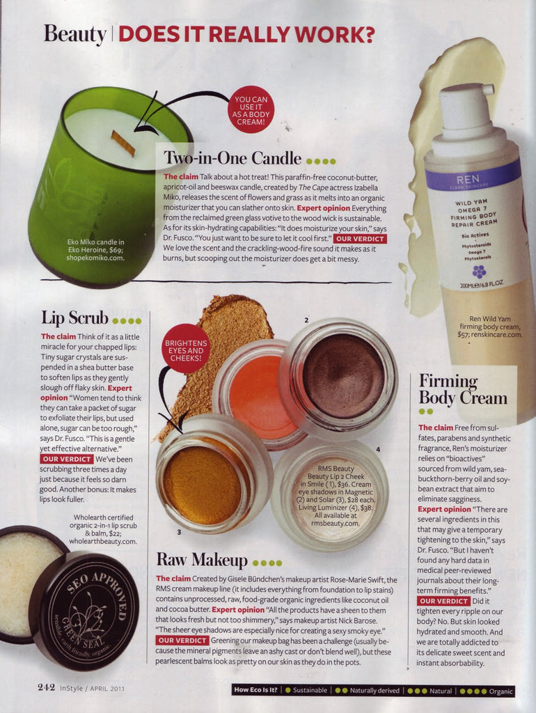 April 2011 InStyle Magazine featuring RMS Beauty