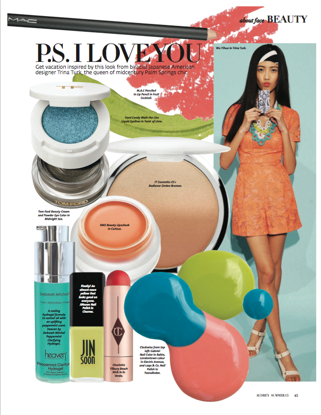 summer 2015 audrey magazine featuring rms beauty lip2cheek in curious