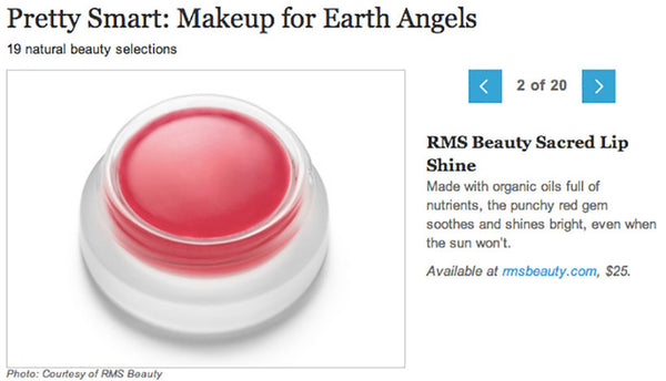 April 2013 Dailycandy.com featuring rms beauty lip shine in sacred