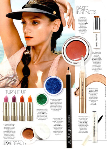 july 2015 elle magazine featuring rms beauty buriti bronzer and lip2cheek in promise