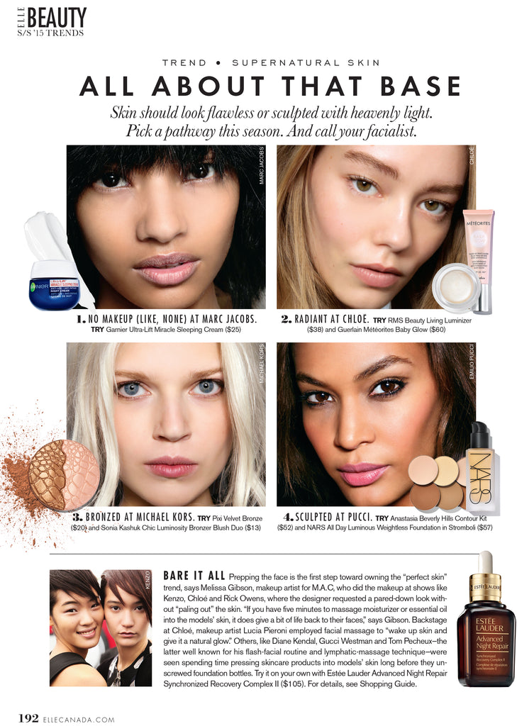 april 2015 elle canada featuring rms beauty living luminizer