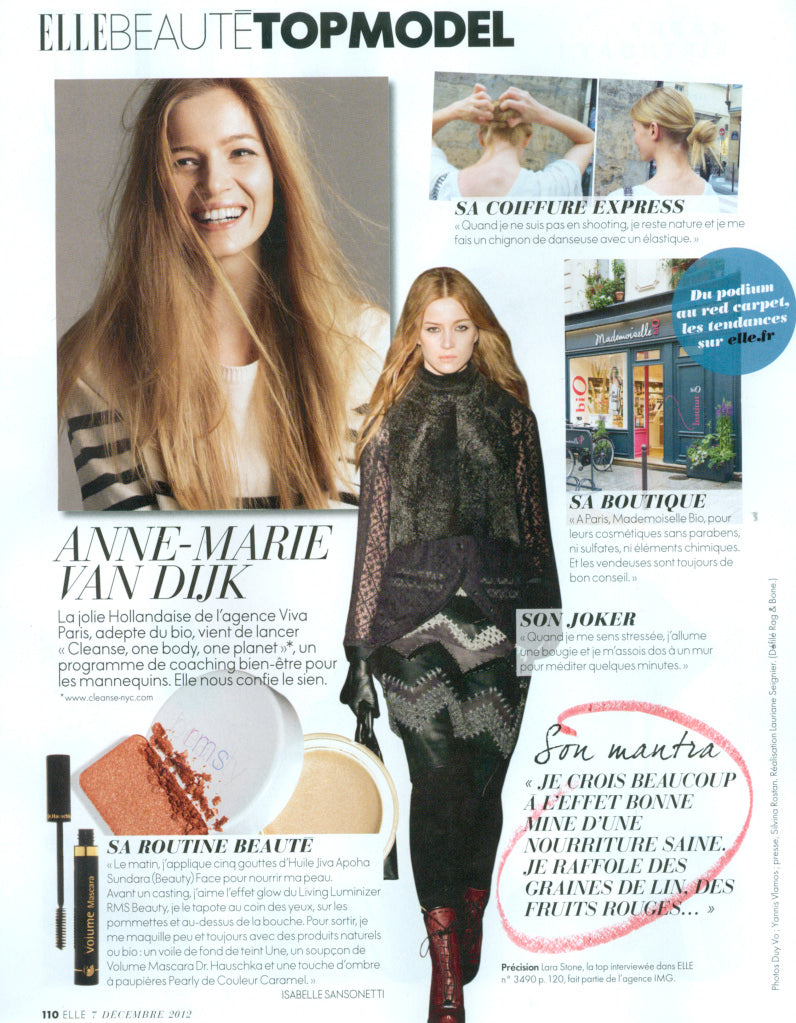 december 2012 elle france featuring rms beauty living luminizer