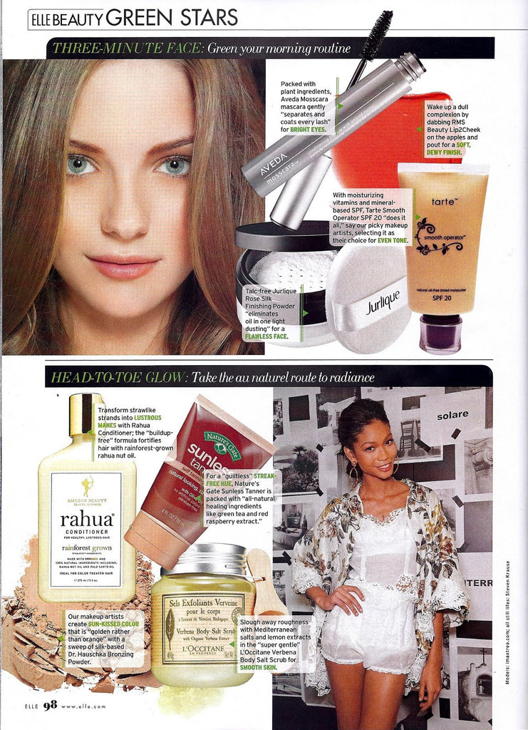 july 2011 elle magazine featuring rms beauty lip2cheek