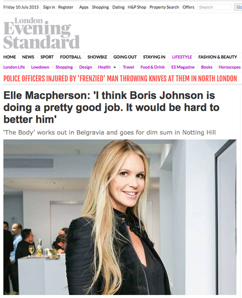 april 2015 evening standard featuring elle macpherson and rms beauty un cover up