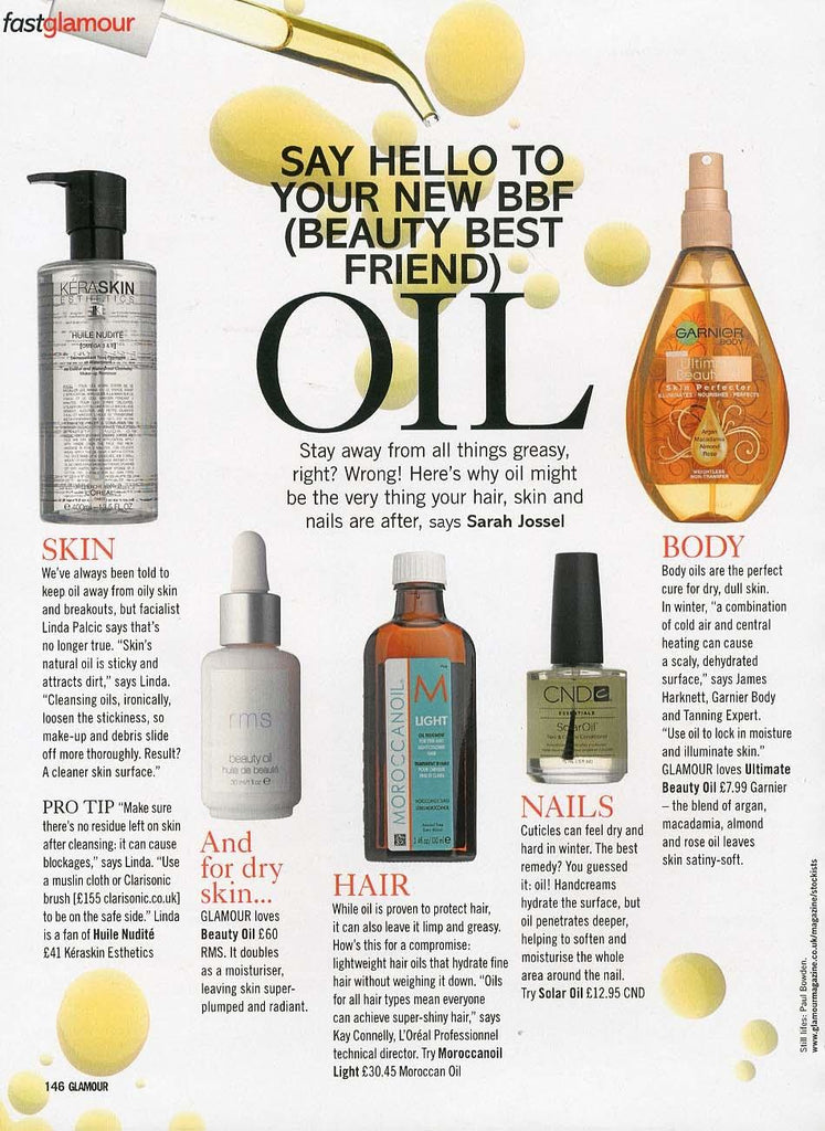 january 2013 glamour magazine featuring rms beauty oil