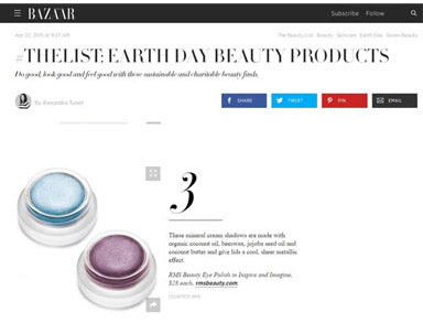 harper's bazaar featuring rms beauty eye polishes in inspire and imagine