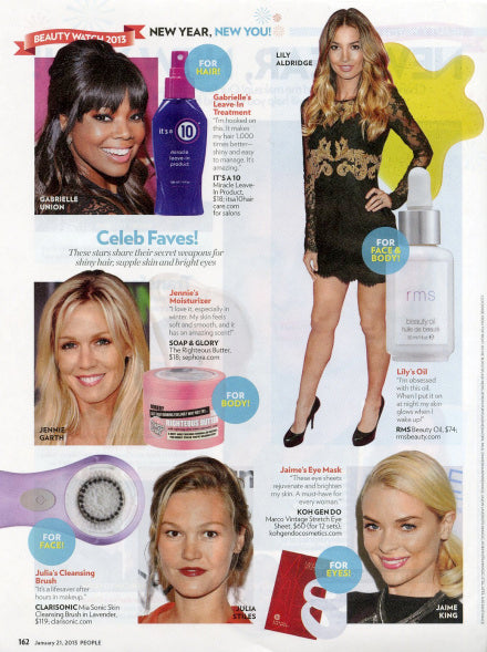 january 2013 people magazine featuring rms beauty oil and lily aldridge