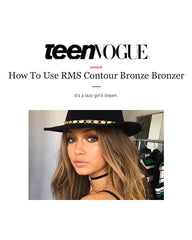 July 2016 Teen Vogue featuring RMS Beauty Contour Bronze