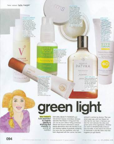 march 2011 nylon magazine featuring rms beauty living luminizer