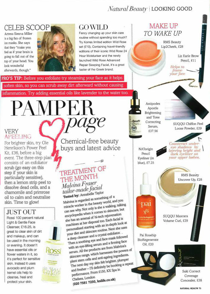 natural health magazine november 2014 featuring rms beauty lip2cheek