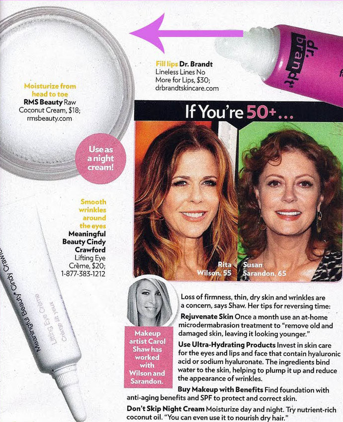 october 2011 people magazine featuring rms beauty raw coconut cream