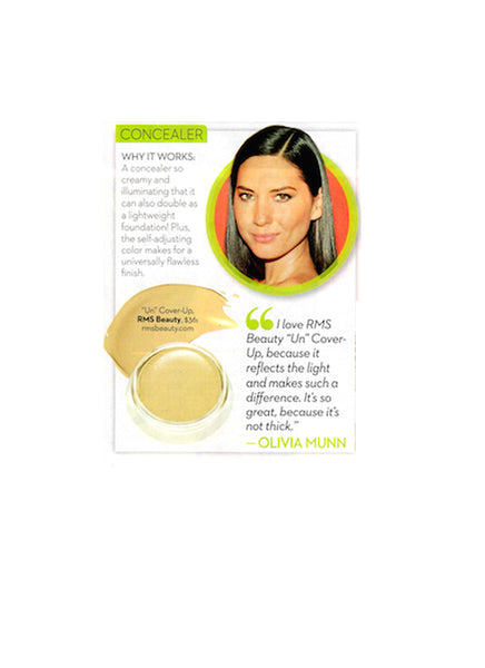 april 2014 ok! magazine featuring olivia munn and rms beauty un cover up