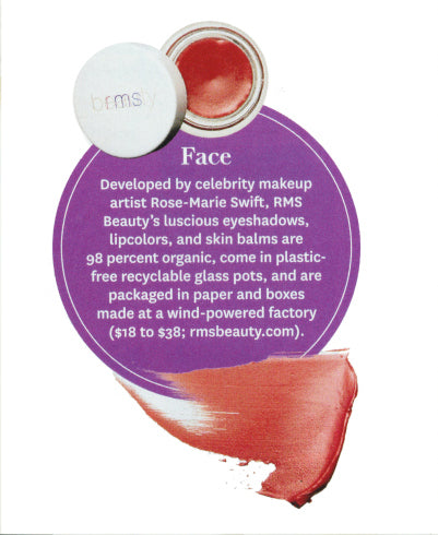 january 2012 oprah magazine featuring rms beauty