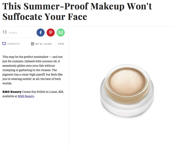 july 2015 refinery29 featuring rms beauty eye polish in lunar