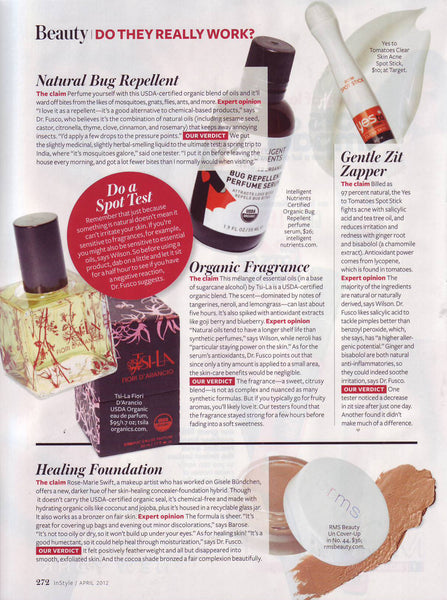 April 2012 InStyle featuring RMS Beauty Un Cover-Up