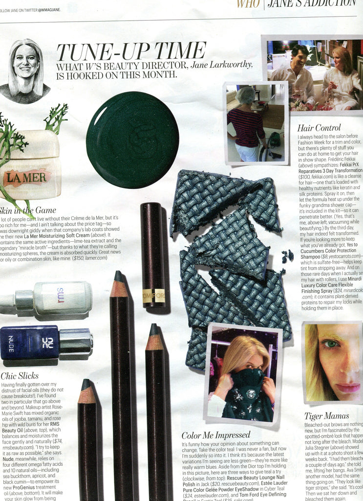 september 2012 w magazine featuring rms beauty oil