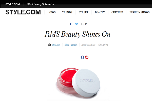 style.com featuring rms beauty lip shine in sacred