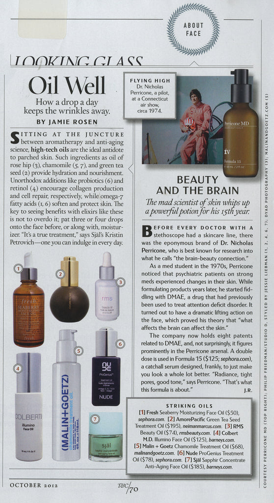 october 2012 town and country magazine featuring rms beauty oil