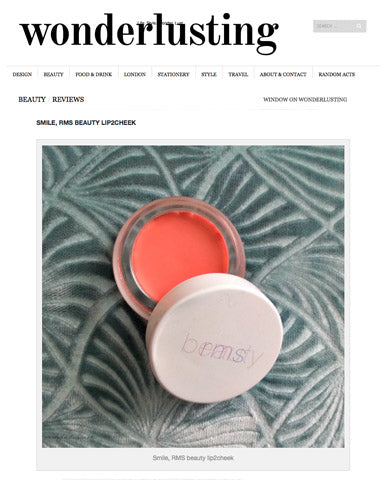 march 2015 wonderlusting blog review featuring rms beauty lip2cheek
