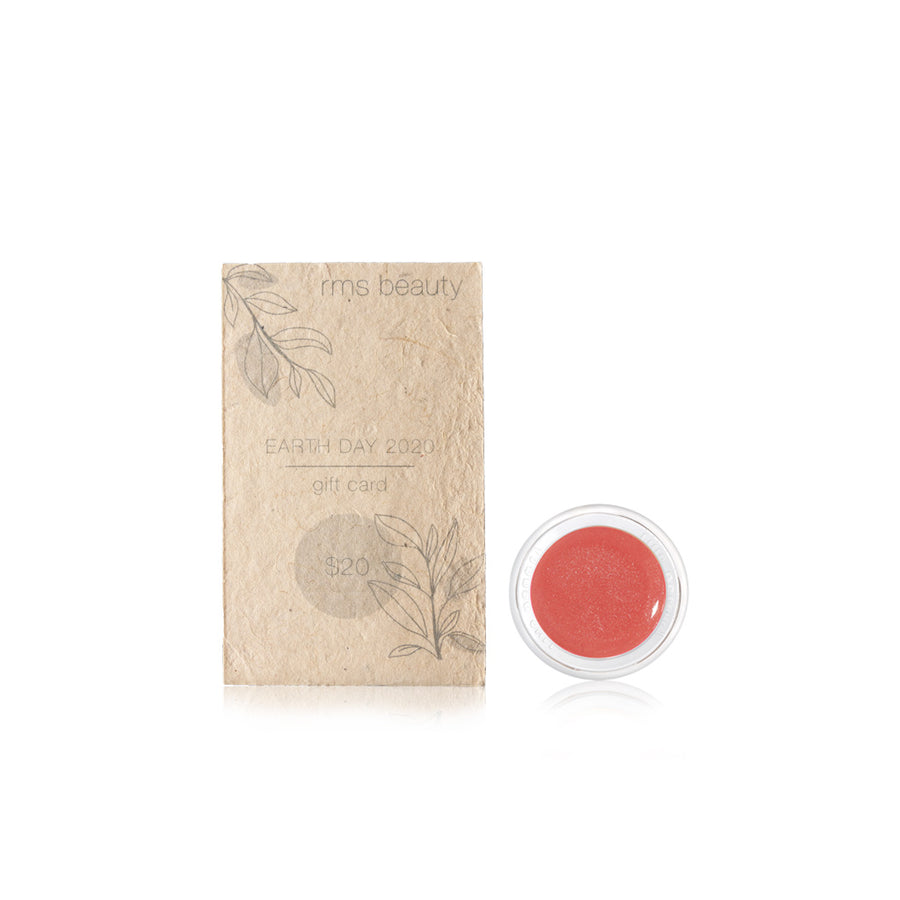 earth day $20 gift card and bloom lip shine