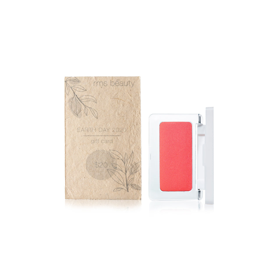 Earth Day $20 Gift Card and Crushed Rose  Pressed Blush