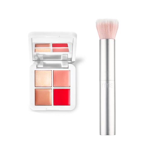lip2cheek glow quad mini + brush duo