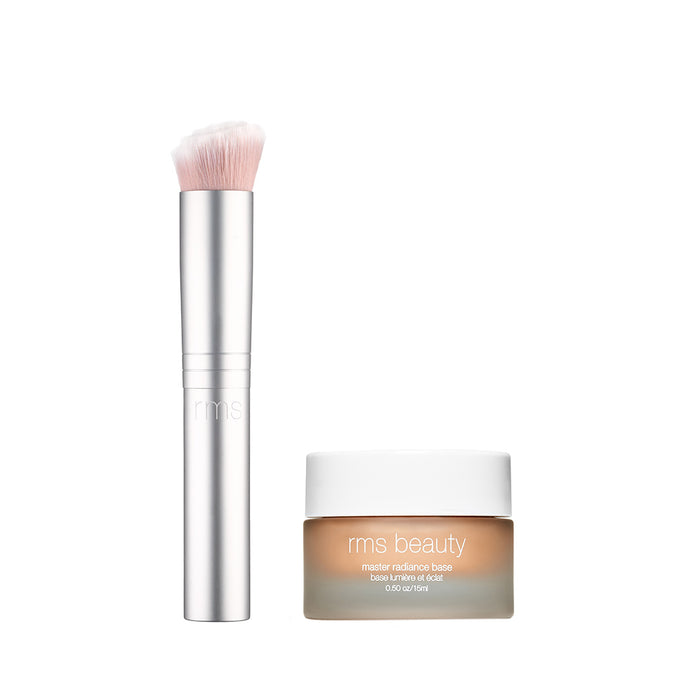 Master Radiance Base and skin2skin foundation brush Duo