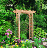 Rustic Natural Cedar 600615 Rosedale Arbor - Outdoor Patio Supply