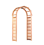 Rustic Natural Cedar 600635 Glendale Wooden Arbor - Outdoor Patio Supply