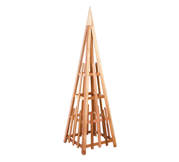 Rustic Natural Cedar 601310 Cedar Pyramid Trellis - Outdoor Patio Supply - 1