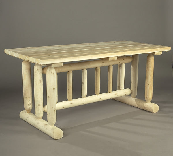 Rustic Natural Cedar 020021C Harvest Table Family Dining - Outdoor Patio Supply - 1