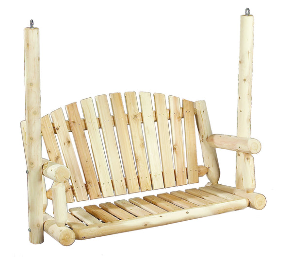 Rustic Natural Cedar 070027A Amer. Garden Swing Seat - Outdoor Patio Supply - 1
