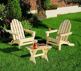 Rustic Natural Cedar 400404 Foldable Adirondack Chair - Outdoor Patio Supply - 3