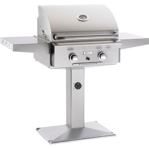 American Outdoor Grill 24 Inch Propane Gas Grill On Pedestal - Outdoor Patio Supply