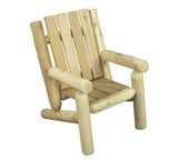 Rustic Natural Cedar 01004JR Junior Log Style Chair - Outdoor Patio Supply - 1