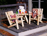 Rustic Natural Cedar 01004JR Junior Log Style Chair - Outdoor Patio Supply - 2