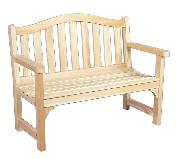 Rustic Natural Cedar 050506C Camel Back Outdoor Settee - Outdoor Patio Supply - 1
