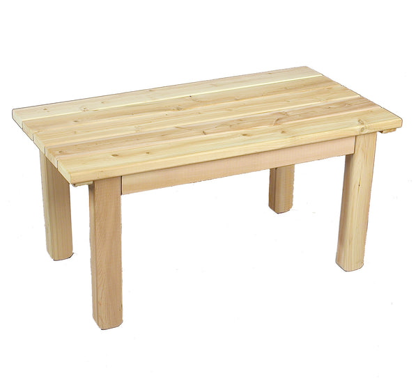 Rustic Natural Cedar 500509 English Garden Coffee Table - Outdoor Patio Supply
