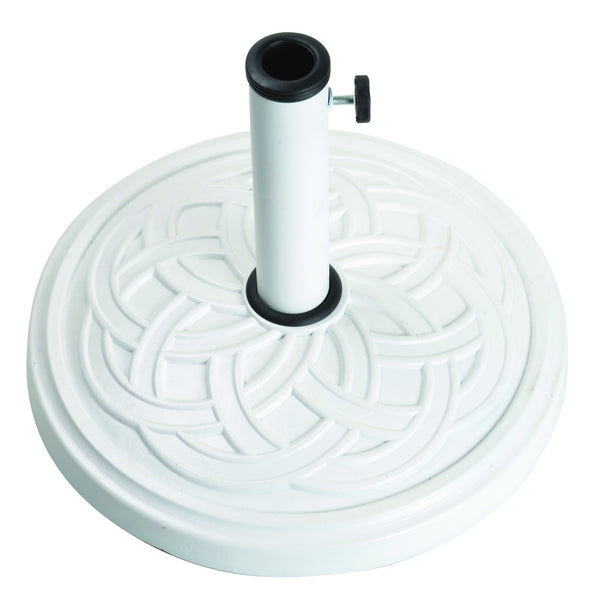 Bond 60478A Gaelen Umbrella Base White - Outdoor Patio Supply
